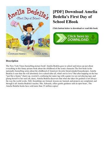 [PDF] Download Amelia Bedelia's First Day of School EBook