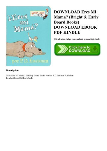 DOWNLOAD Eres Mi Mama (Bright & Early Board Books) DOWNLOAD EBOOK PDF KINDLE