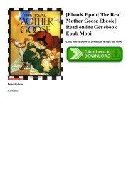 [EbooK Epub] The Real Mother Goose Ebook  Read online Get ebook Epub Mobi