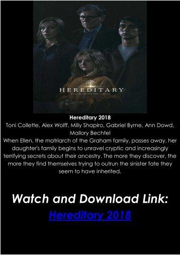 Putlockers Full Movie Streaming Online Hereditary 2018 Free HD-BLURAY