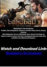HINDI MOVIE FULL FREE ONLINE Download Baahubali 2 HD-BLURAY