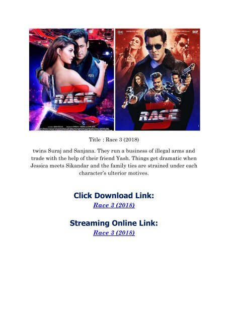race 3 picture download 2018