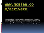Mcafee.com/activate- Download Mcafee Antivirus Online