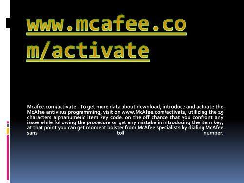 Mcafee.com/activate- Download Mcafee Antivirus Online