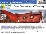 Best Solar Companies in Winnipeg