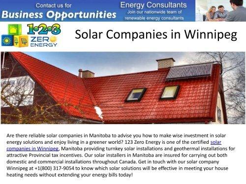 Best Solar Companies >> Best Solar Companies In Winnipeg
