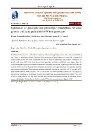 Estimation of genotypic and phenotypic correlations for some growth traits and grain yield of Wheat genotypes