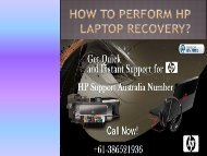 How To Perform HP LaptopRecovery