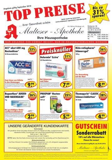 Angebote der Malteser Apotheke Nürnberg