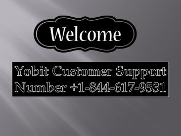 Call On +1844-617-9531 Yobit Customer Support Number