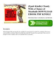 (Epub Kindle) Cloudy With a Chance of Meatballs DOWNLOAD EBOOK PDF KINDLE
