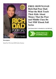 FREE~DOWNLOAD Rich Dad Poor Dad What the Rich Teach Their Kids About Money That the Poor and Middle Class Do Not! PDF Ebook Full Series