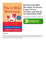 the four hour work week free pdf