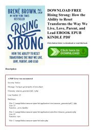 DOWNLOAD FREE Rising Strong How the Ability to Reset Transforms the Way We Live  Love  Parent  and Lead EBOOK EPUB KINDLE PDF