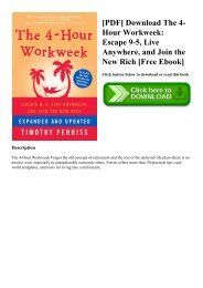The Four Hour Work Week Ebook