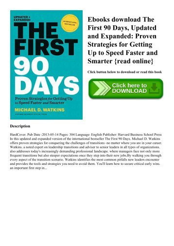 Ebooks download The First 90 Days  Updated and Expanded Proven Strategies for Getting Up to Speed Faster and Smarter {read online}