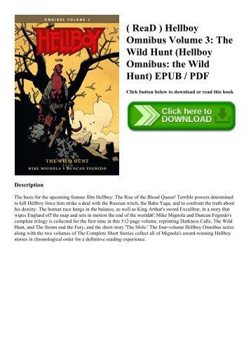 ( ReaD ) Hellboy Omnibus Volume 3 The Wild Hunt (Hellboy Omnibus the Wild Hunt) EPUB  PDF