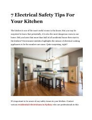 7 electrical safety tips for your kitchen