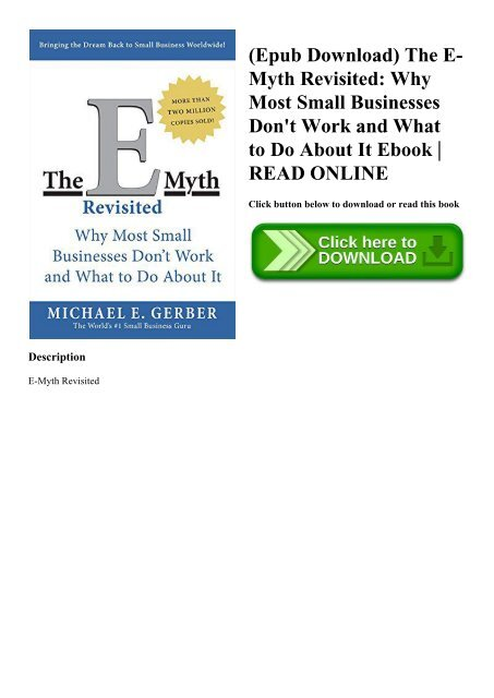 E myth michael gerber free download.