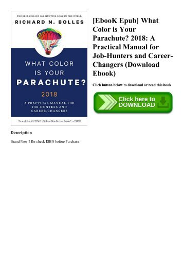 PDF] Download What Color Is Your Parachute 2018 A Practical Manual ...
