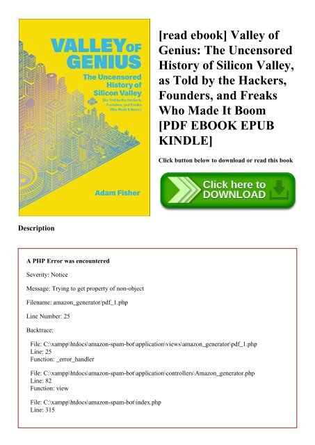 [read ebook] Valley of Genius The Uncensored History of Silicon Valley  as Told by the Hackers  Founders  and Freaks Who Made It Boom [PDF EBOOK EPUB KINDLE]