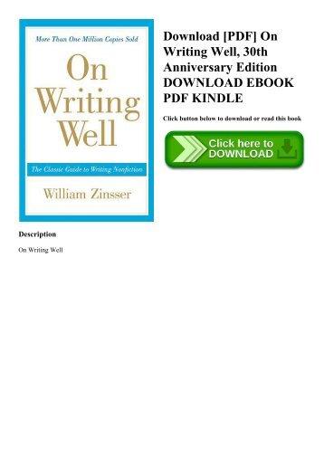 On Writing Well Pdf