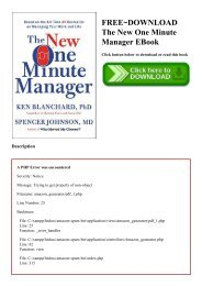 One Minute Manager Ebook