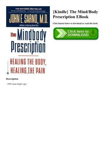 {Kindle} The MindBody Prescription EBook