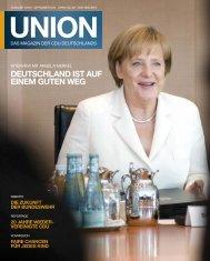 DEUTSCHLAND IST AUF EINEM GUTEN WEG - Union-Magazin