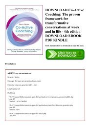 coactive coaching the proven framework for transformative conversations at work and in life 4th edition