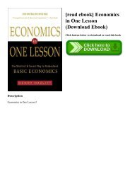 Economics In One Lesson Ebook