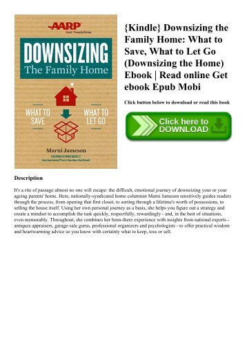 {Kindle} Downsizing the Family Home What to Save  What to Let Go (Downsizing the Home) Ebook  Read online Get ebook Epub Mobi