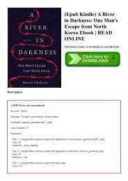 (Epub Kindle) A River in Darkness One Man's Escape from North Korea Ebook  READ ONLINE