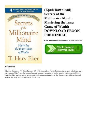 Secrets Of The Millionaire Mind Mastering The Inner Game