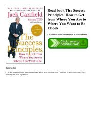 Read book The Success Principles How to Get from Where You Are to Where You Want to Be EBook