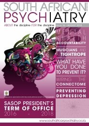 South African Psychiatry - August 2018