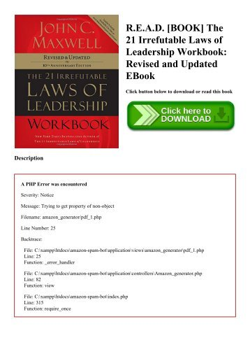 The 21 Irrefutable Laws Of Leadership Book Summary Frumi Group