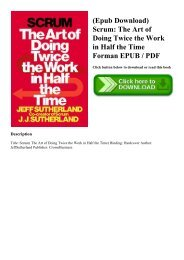 (Epub Download) Scrum The Art of Doing Twice the Work in Half the Time Forman EPUB  PDF