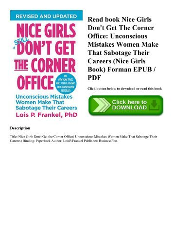 pdf download nice girls don t get the corner office unconscious