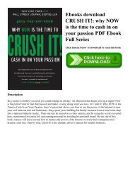 Ebooks download CRUSH IT! why NOW is the time to cash in on your passion PDF Ebook Full Series