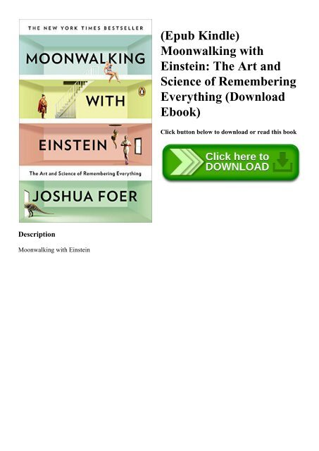 Epub Kindle) Moonwalking with Einstein The Art and Science of