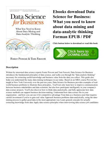 data science for business pdf