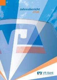 Jahresbericht 2008 - VR-Bank Bad Hersfeld-Rotenburg eG