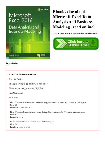 Best pdf excel data analysis for dummies 3e trial ebook ebooks download microsoft excel data analysis and business modeling read online fandeluxe Images
