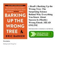 ( ReaD ) Barking Up the Wrong Tree The Surprising Science Behind Why Everything You Know About Success Is (Mostly) Wrong Ebook  READ ONLINE