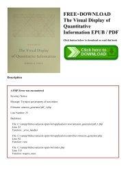 Edward Tufte The Visual Display Of Quantitative Information Pdf