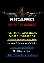 THE-FREE Watch SICARIO DAY OF THE SOLDADO 2018 Full Movie online STREMING HD-FULL
