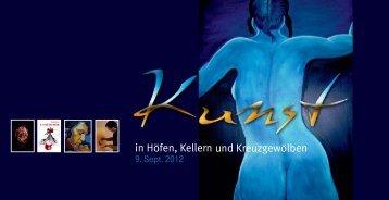 Programm 'Kunst in Höfen, Kellern und Kreuzgewölben'