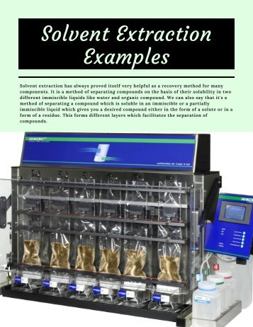Solvent Extraction Examples