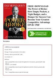 the power of broke pdf download free